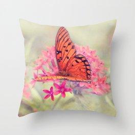 Quiet Butterfly Throw Pillow