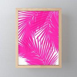 Palms Fuchsia Framed Mini Art Print