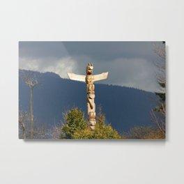 Totem Pole Metal Print