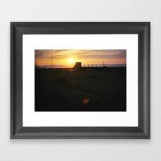Truckin' Sunset Framed Art Print