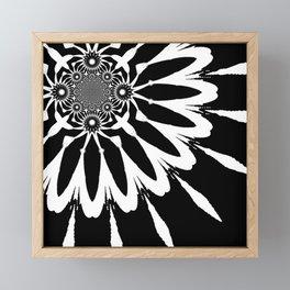 The Modern Flower Black & White Framed Mini Art Print