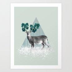 Deer, Stag, Forest Animal, Woodlands Art Print