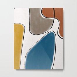 Midcentury Abstract Art Metal Print