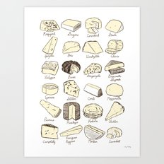 Cheeses is Love Art Print