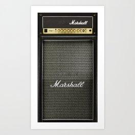 Gray amp amplifier Art Print