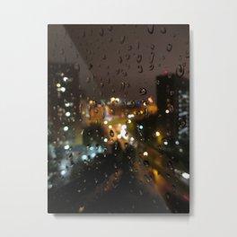 Rainy Night City Metal Print