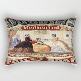 Vintage poster - Dobbins Medicated Toilet Soap Rectangular Pillow