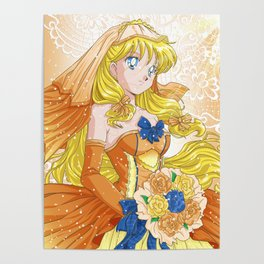 Minako Wedding Dress Poster