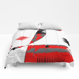 black and white meets red Version 15 Comforters