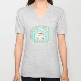 Café Paris Unisex V-Neck