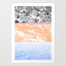 Around All the Flowers Art Print