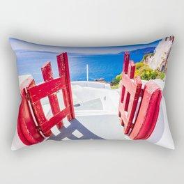 Oia, Santorini, Greece Rectangular Pillow