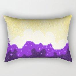Nonbinary Pride Flag Galaxy Rectangular Pillow