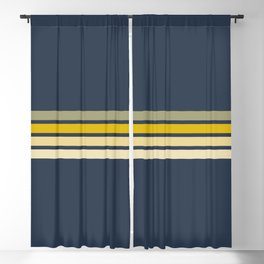Racing Retro Stripes Blackout Curtain