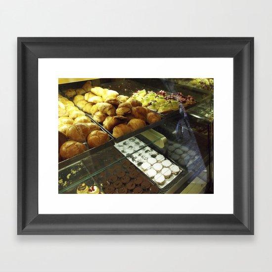 the pastrycase Framed Art Print