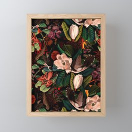 FLORAL AND BIRDS XIV Framed Mini Art Print