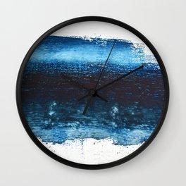 Lake Michigan: a pretty, minimal abstract piece in icy blues by Alyssa Hamilton Art Wall Clock