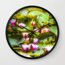 Water Lilys Art Wall Clock