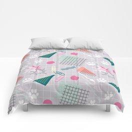 Memphis.Colorful retro pattern.2 Comforters