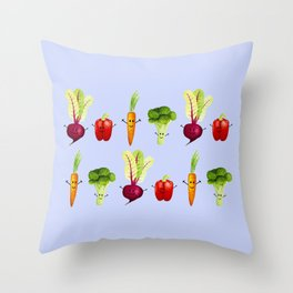 Vegetable Friends Throw Pillow