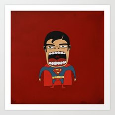 Screaming Superdude Art Print