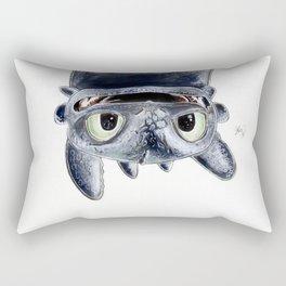 Toothless (Upside Down) Rectangular Pillow