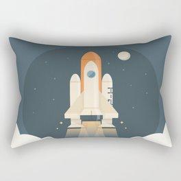 Spaceship Launch Rectangular Pillow