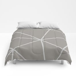 Geometric pattern shapes - white and beige Comforters