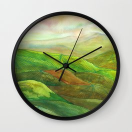 Lines in the mountains XVI Wall Clock