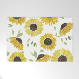 Sunflowers Welcome Mat