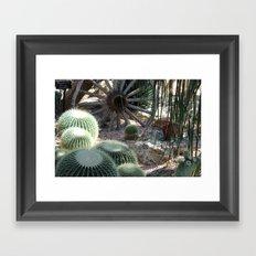 Cacti Farm Framed Art Print