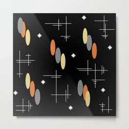 Ovals and Starbursts Colorful 2 Metal Print