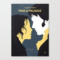 No584 My Pride and Prejudice minimal movie poster Canvas Print
