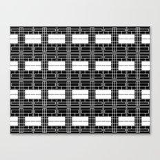 Black and White Brick Canvas Print