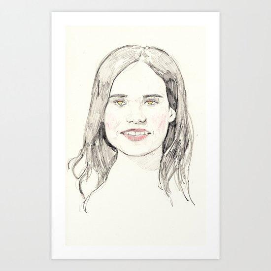 Ellen Page Portrait Art Print