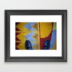 Shoes Rug Framed Art Print