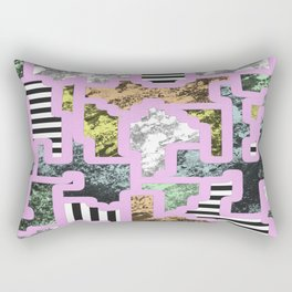 Paint Segregation - Abstract, geometric, multi patterned pop art Rectangular Pillow