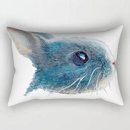 cute bunny illustration Rectangular Pillow