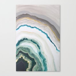Green Agate #1 Canvas Print