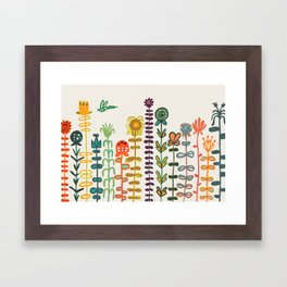 Happy garden Framed Art Print