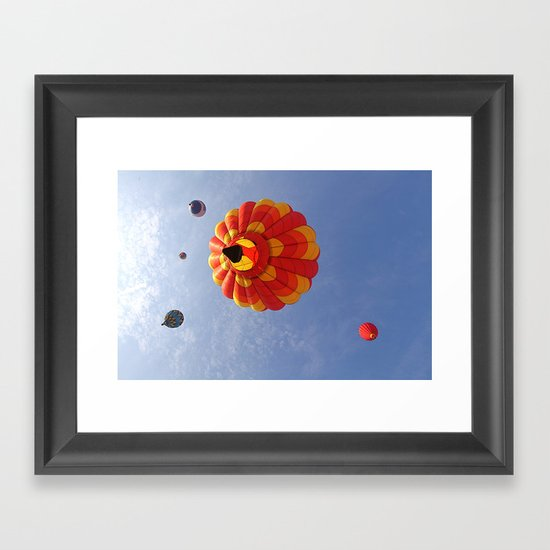 Up, Up and Away in a Hot Air Balloon Framed Art Print