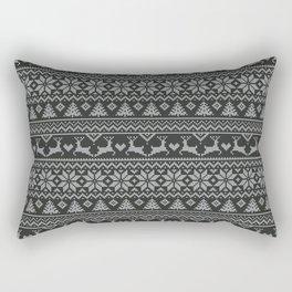 Christmas Tricot - B&W Rectangular Pillow