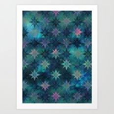 Bohemian Night Skye - Green Art Print
