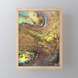 Chemistry Lab -Multicolored Fluid Art Painting Framed Mini Art Print