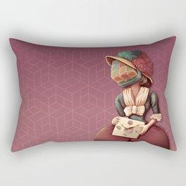 Lady Rubik Rectangular Pillow
