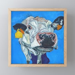 Leticia the Cow Framed Mini Art Print