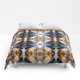 Earth Tones Geometric Abstract Pattern Comforters