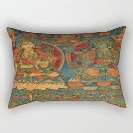 The White Tara and The Green Tara Rectangular Pillow