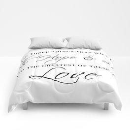 faith hope & love Comforters