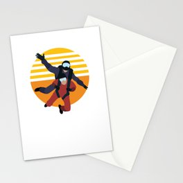 sky diving Stationery Cards